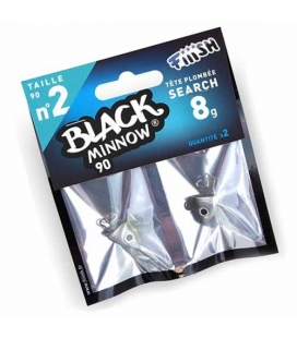 BLACK MINNOW CABEZAS SEARCH Nº2 8 GRS